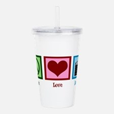 Peace Love Action! Acrylic Double-wall Tumbler