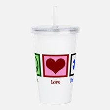 Peace Love Paramedic Acrylic Double-wall Tumbler