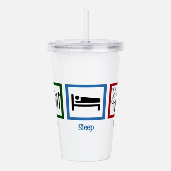 Eat Sleep Act Acrylic Double-wall Tumbler