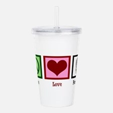 Peace Love Forensics Acrylic Double-wall Tumbler