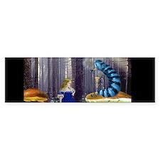 Who Are You? (Blue Caterpillar) Bumper Sticker
