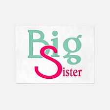 Stylized Big Sister 5'x7'Area Rug