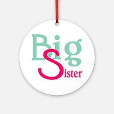 Stylized Big Sister Ornament (Round)