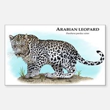 Arabian Leopard Sticker (Rectangle)