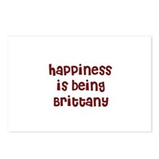 happiness is being Brittany Postcards (Package of
