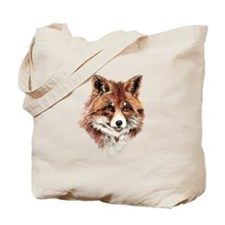 Cute Watercolor Red Fox Animal Nature Art Tote Bag