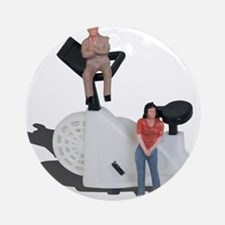 Motivators Standing by Exercise B Ornament (Round)