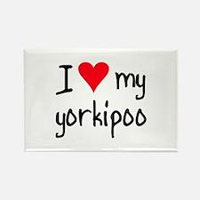 I LOVE MY Yorkipoo Rectangle Magnet
