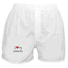 I LOVE MY Schnorkie Boxer Shorts
