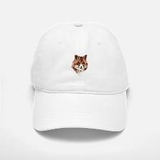 Cute Watercolor Red Fox Animal Nature Art Hat