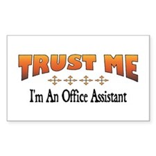 Trust Office Assistant Rectangle Decal
