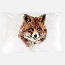 Cute Watercolor Red Fox Animal Nature Art Pillow C