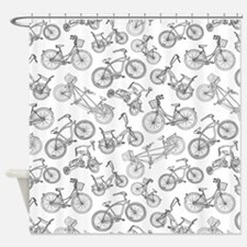 Bicycle Mania Shower Curtain