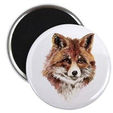 Cute Watercolor Red Fox Animal Nature Art Magnets