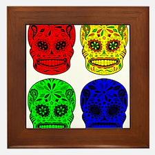 Sugar Skulls Framed Tile