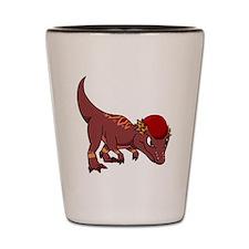 Jessica the Pachycephalosaurus front vi Shot Glass