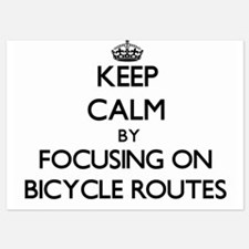 Keep Calm by focusing on Bicycle Route Invitations