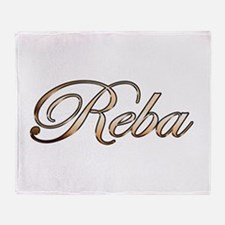 Gold Reba Throw Blanket