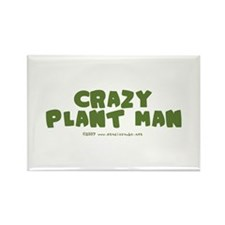 Crazy Plant Man Rectangle Magnet
