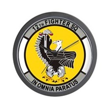 12_fighter_sq.png Wall Clock