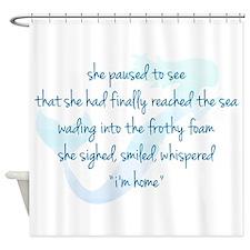 Mermaid Watercolor Shower Curtain