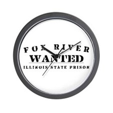 Wanted - Fox River Wall Clock