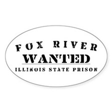 Wanted - Fox River Oval Decal