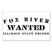 Wanted - Fox River Rectangle Decal