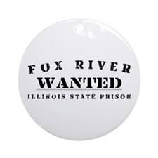 Wanted - Fox River Ornament (Round)