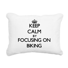 Keep Calm by focusing on Rectangular Canvas Pillow