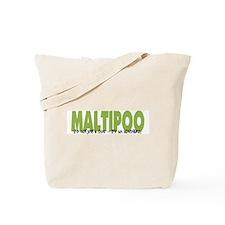 Maltipoo IT'S AN ADVENTURE Tote Bag