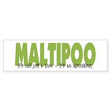 Maltipoo IT'S AN ADVENTURE Bumper Bumper Sticker