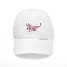 Pink Kitty Baseball Baseball Cap