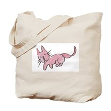 Pink Kitty Tote Bag