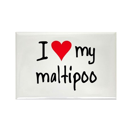 I LOVE MY Maltipoo Rectangle Magnet (10 pack)