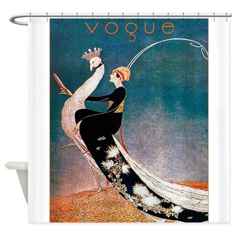 Vintage Fashion Art Of Flapper And Shower Curtain