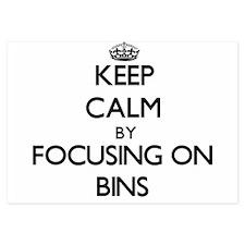 Keep Calm by focusing on Bins Invitations