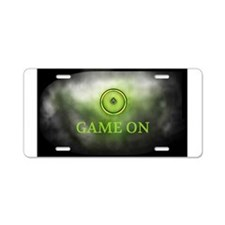 Game On Aluminum License Plate