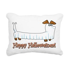 Happy Halloween Dachshund Rectangular Canvas Pillo