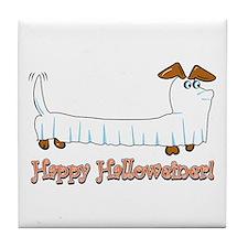 Happy Halloween Dachshund Tile Coaster