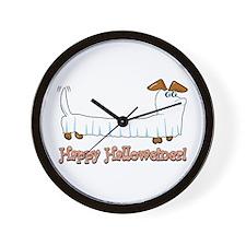 Happy Halloween Dachshund Wall Clock