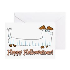 Happy Halloween Dachshund Greeting Cards