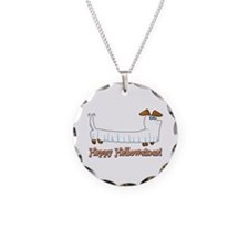 Happy Halloween Dachshund Necklace