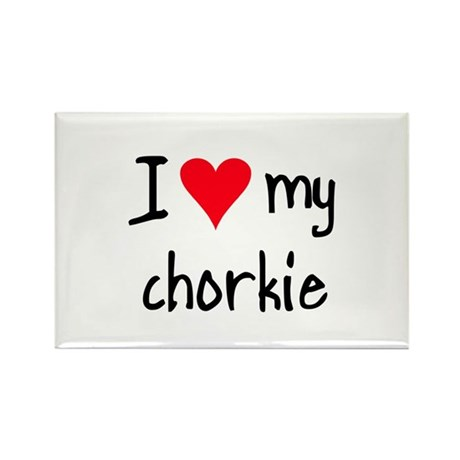 I LOVE MY Chorkie Rectangle Magnet (10 pack)