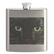 Black Cat Pearl Flask
