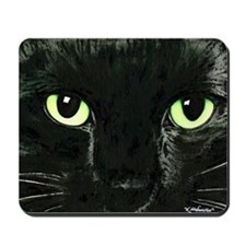 Black Cat Pearl Mousepad