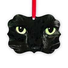 Black Cat Pearl Ornament