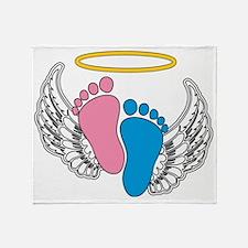 Angel Baby Footprints - Pregnancy Lo Throw Blanket