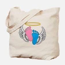 Angel Baby Footprints - Pregnancy Loss Aw Tote Bag