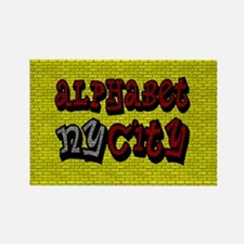 """""""CLICK HERE for ALPHABET CITY Rectangle Magnet"""